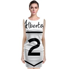 Alberta Highway 2 Shield Sleeveless Velvet Midi Dress by abbeyz71