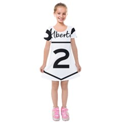 Alberta Highway 2 Shield Kids  Short Sleeve Velvet Dress by abbeyz71