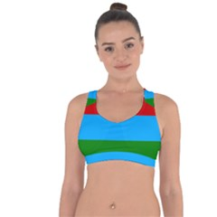 Flag Of Russian Republic Of Karelia Cross String Back Sports Bra by abbeyz71
