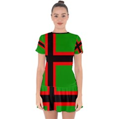 Karelia Nationalist Flag Drop Hem Mini Chiffon Dress by abbeyz71