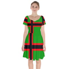 Karelia Nationalist Flag Short Sleeve Bardot Dress by abbeyz71