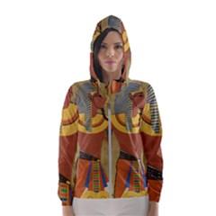 Egyptian Tutunkhamun Pharaoh Design Women s Hooded Windbreaker