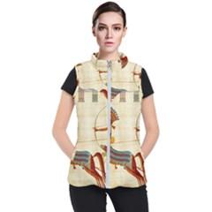 Egyptian Tutunkhamun Pharaoh Design Women s Puffer Vest