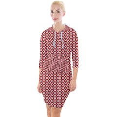 Pattern Star Backround Quarter Sleeve Hood Bodycon Dress