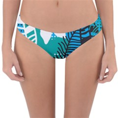 Pattern Leaf Polka Flower Reversible Hipster Bikini Bottoms by HermanTelo