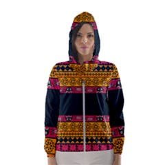 Pattern Ornaments Africa Safari Women s Hooded Windbreaker