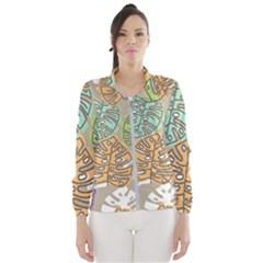 Pattern Leaves Banana Rainbow Women s Windbreaker by HermanTelo