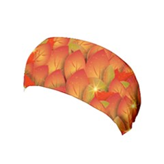 Pattern Texture Leaf Yoga Headband by HermanTelo