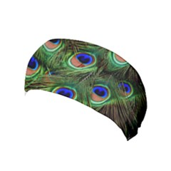 Peacock Feathers Plumage Iridescent Yoga Headband by HermanTelo