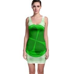 Shamrock Luck Day Bodycon Dress