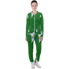 Shamrock Clover Saint Patrick Leaves Casual Jacket And Pants Set by HermanTelo