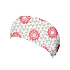 Stamping Pattern Red Yoga Headband