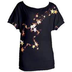 Shooting Star Women s Oversized Tee by WensdaiAddamns
