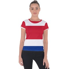 National Flag Of Costa Rica Short Sleeve Sports Top  by abbeyz71