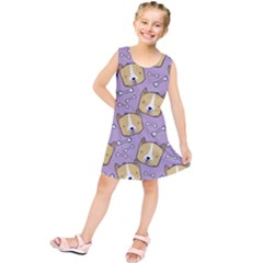 Corgi Pattern Kids  Tunic Dress