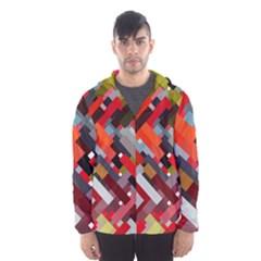 Maze Mazes Fabric Fabrics Color Men s Hooded Windbreaker