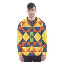 Background Geometric Color Men s Hooded Windbreaker