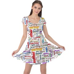 Writing Author Motivation Words Cap Sleeve Dress by Sapixe