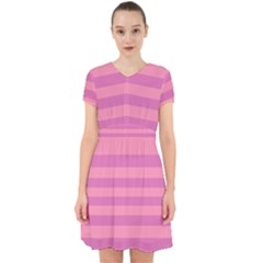 Pink Stripes Striped Design Pattern Adorable In Chiffon Dress by Sapixe