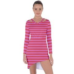 Stripes Striped Design Pattern Asymmetric Cut-out Shift Dress by Sapixe