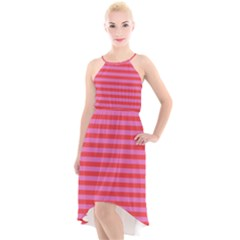 Stripes Striped Design Pattern High-low Halter Chiffon Dress  by Sapixe
