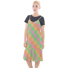 Checkerboard Pastel Squares Camis Fishtail Dress by Sapixe