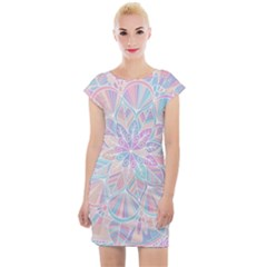 Modern Mandala Design Cap Sleeve Bodycon Dress by tarastyle