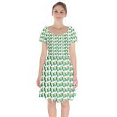 St Patricks Day Background Ireland Short Sleeve Bardot Dress by HermanTelo