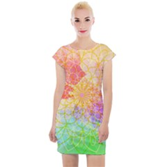 Modern Mandala Design Cap Sleeve Bodycon Dress by tarastyle