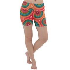 Texture Mosaic Pink Lightweight Velour Yoga Shorts by HermanTelo