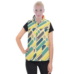 Vintage Desktop Color Women s Button Up Vest by HermanTelo