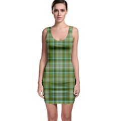 Vintage Green Plaid Bodycon Dress by HermanTelo