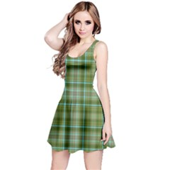 Vintage Green Plaid Reversible Sleeveless Dress by HermanTelo