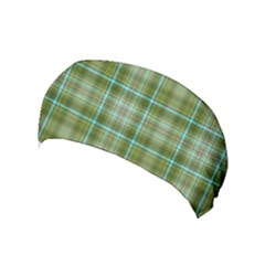 Vintage Green Plaid Yoga Headband