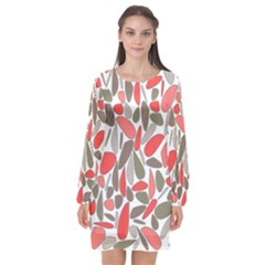 Zappwaits Artdesign Long Sleeve Chiffon Shift Dress  by zappwaits