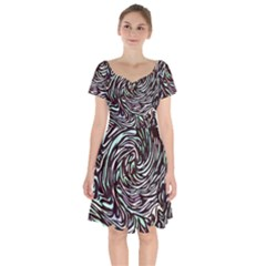 Stained Glass Short Sleeve Bardot Dress by Mariart