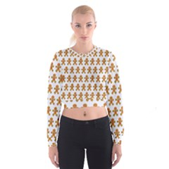 Gingerbread Men Cropped Sweatshirt by Mariart