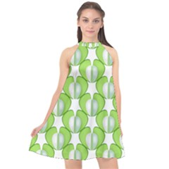 Herb Ongoing Pattern Plant Nature Halter Neckline Chiffon Dress  by Alisyart