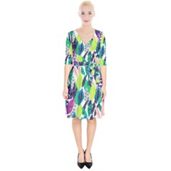 Leaves Rainbow Pattern Nature Wrap Up Cocktail Dress by Alisyart