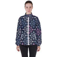 Background Wallpaper Abstract Art Women s High Neck Windbreaker by AnjaniArt