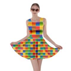 Background Colorful Abstract Skater Dress