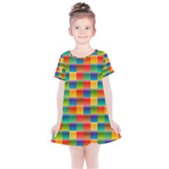 Background Colorful Abstract Kids  Simple Cotton Dress by Bajindul