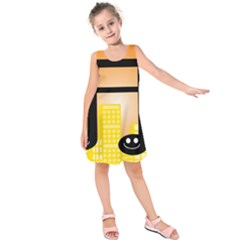 Abstract Anthropomorphic Art Kids  Sleeveless Dress
