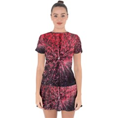 Abstract Background Wallpaper Drop Hem Mini Chiffon Dress