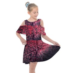Abstract Background Wallpaper Kids  Shoulder Cutout Chiffon Dress by Bajindul