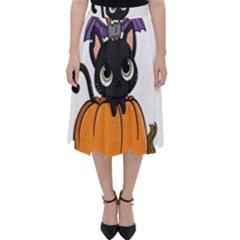 Halloween Cute Cat Classic Midi Skirt by Bajindul