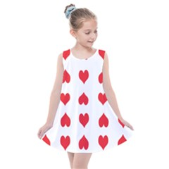Heart Red Love Valentines Day Kids  Summer Dress by Bajindul