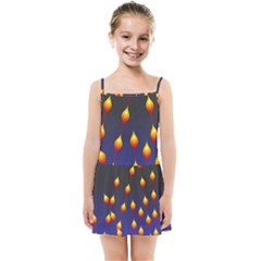 Flower Buds Floral Night Kids  Summer Sun Dress by Bajindul