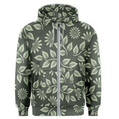 Flowers Pattern Spring Nature Men s Zipper Hoodie