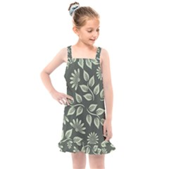 Flowers Pattern Spring Nature Kids  Overall Dress by Bajindul